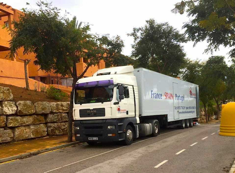 Removals to Elviria Marbella Spain