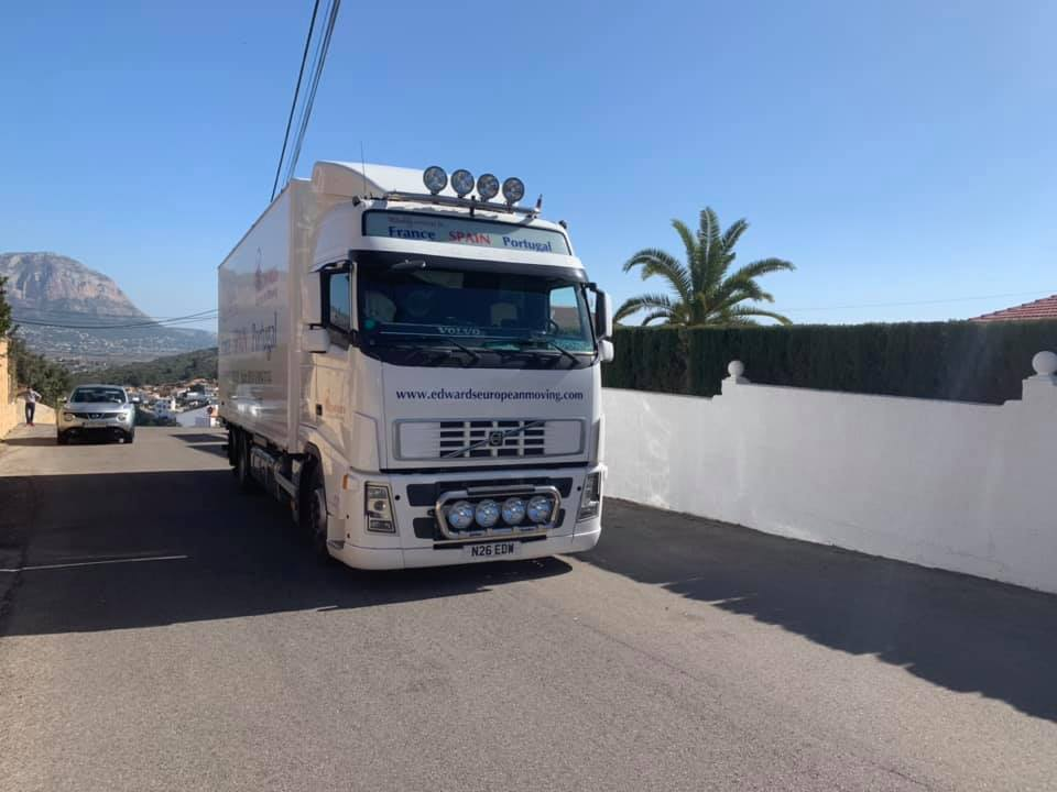 Dedicated Move from Thetford Uk to Pedreguer Alicante